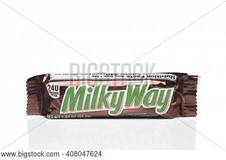 IRVINE, CALIFORNIA - 6 OCT 2020: A milky Way Candy Bar, from Mars.