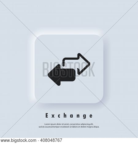 Exchange Icon. Double Reverse Arrow, Replace Icon. Direction Arrows For Transfer, Sync, Migration Da