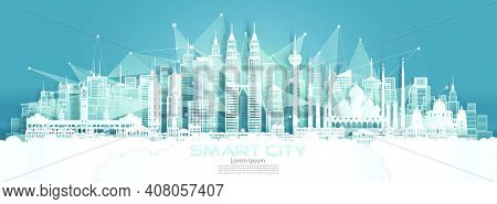 Technology Wireless Network Communication Smart City With Architecture In Malaysia At Asia Downtown