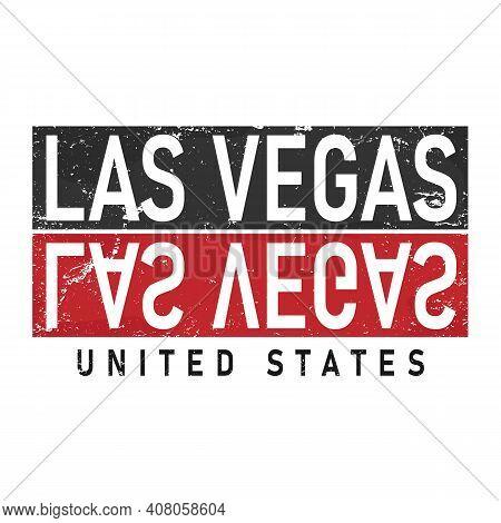 Las Vegas, Slogan Print Vector Text For T-shirt Or Printing, Poster Merch