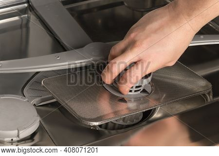 A Servicing And Repairing Household Dishwashers, Close-up