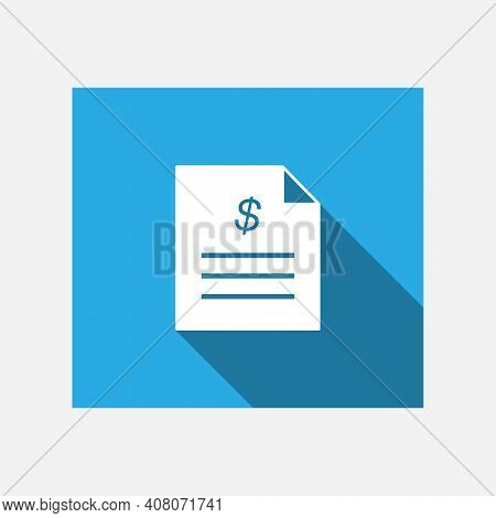 Invoice Flat Icon. Payment And Invoice. Order Symbol Concept. Tax Sign Design. Paper Invoice Documen