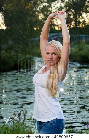 Stretch By Pond