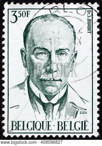 Belgium - Circa 1971: A Stamp Printed In Belgium Shows Dr. Jules Bordet (1870-1945), Was A Belgian I
