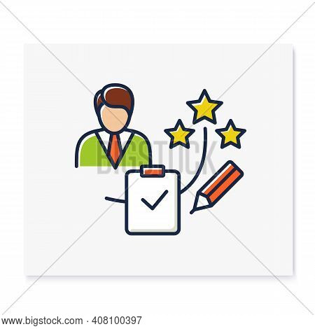 Personal Assessment Color Icon.personal Growth Concept. Self Improvement And Self Realization. Busin