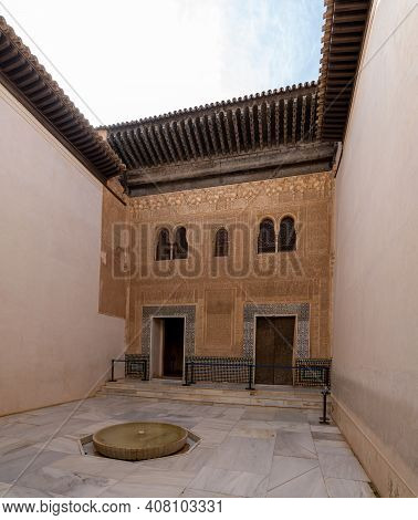 The Patio Del Mexuar In The Nazaries Palace In The Alhambra In Granada