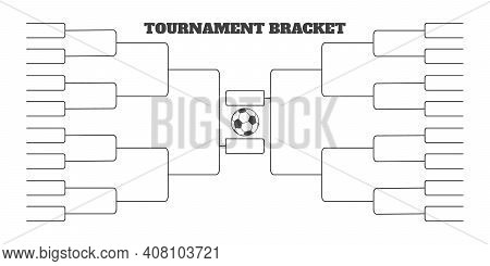 32 Soccer Team Tournament Bracket Championship Template Flat Style Design Vector Illustration Isolat