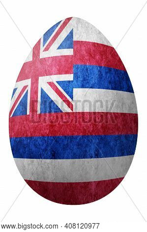 Hawaii State Flag Easter Egg, Hawaii Happy Easter, Clipping Path