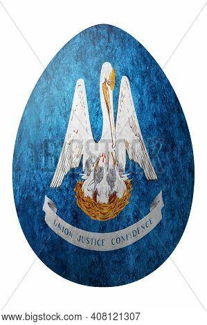 Louisiana State Flag Easter Egg, Louisiana Happy Easter, Clipping Path