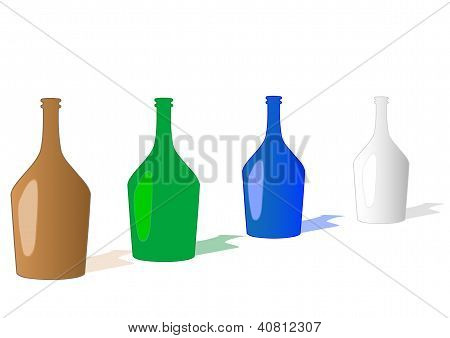 Vector Illustration A Bottles