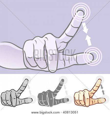 Multi-touch Hand Gestures for Smart-phone, Tablet and Pad- Pinch