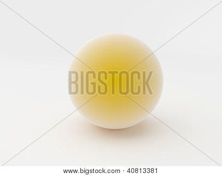 3D Orange Sphere