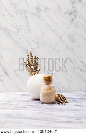 Diy Self-care Ayurvedic Cosmetic Ubtan In Glass Jar