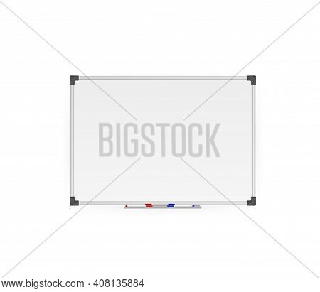Modern Template. Flat Whiteboard. Blank Screen Isolated. Flat Vector Illustration. Vector Drawing. I