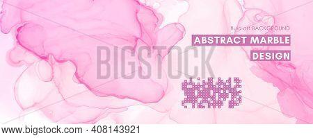 Chic Elegant Background. Liquid Marble Paper. Graphic Modern Print. Fluid Illustration. Rose Elegant
