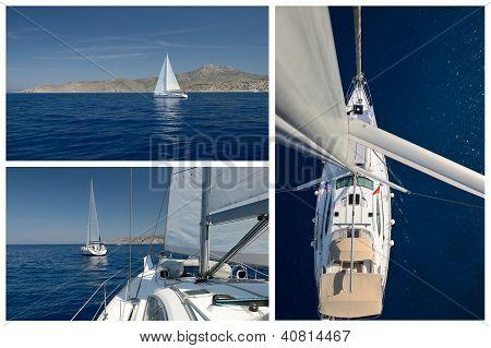 Yachting. Romantic Sailing