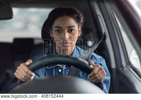 Traffic Jams, Routine Commute, Problems And Tired Driver. Sad Sick Upset Millennial African American
