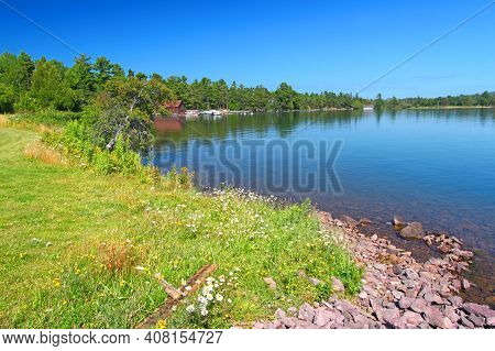 Landscape Of Eagle Harbor State Harbor In The Keweenaw Peninsula Of Michigan