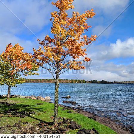 View Of L'anse Bay Of Lake Superior From The Baraga Municipal Marina In Michigan