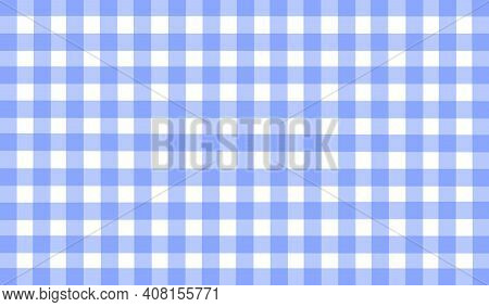 Light Blue White Lavender Vintage Checkered Background. Space For Graphic Design. Checkered Texture.