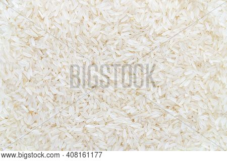 White Rice Background Texture Food