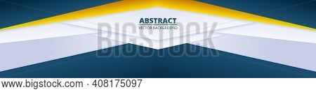 Abstract Colorful Wide Banner. Light Diagonal Wide Background With Colored Gradient Paper Lines.