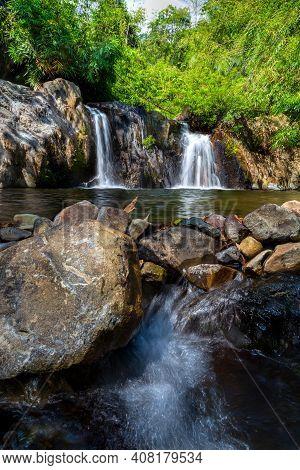 Beautiful Waterfall. Namtok Ang Beng, Chaman, Makham District, Chanthaburi. Thailand