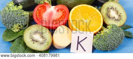 Natural Ingredients Or Products As Source Potassium, Vitamin K, Minerals And Dietary Fiber, Healthy