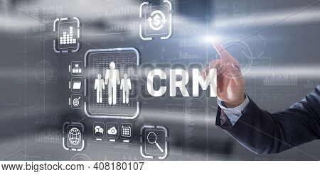 Crm Customer Relationship Management. Customer Orientation Concept