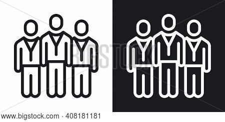 Team, Crowd Or Group Of Persons Icon. Teamwork And Corporate Culture Concept. Simple Two-tone Vector
