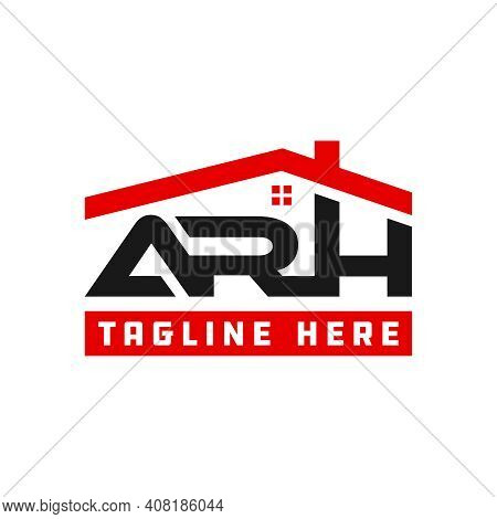 Modern Home Logo Design With Arh Letters