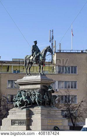 Monument, Tsar, King, Liberator, Russian, Alexander Ii, Built, 1907, Central, Rider, Composition, Eq