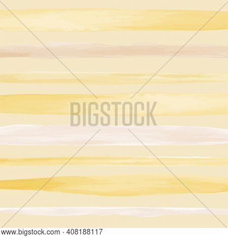 Hand Drawn Horizontal Watercolor Lines. Abstract Illustration Of Desert. Pastel Color Gradient. Vect