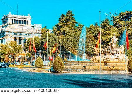 Cibeles Fountain And Cervantes Institute (instituto Cervantes) I