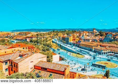 Segovia Have Is A Roman Aqueduct In Segovia. In 1985 Segovia And Its Aqueduct Were Declared World He