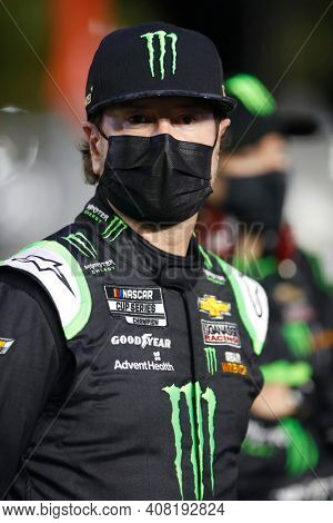 February 11, 2021 - Daytona Beach, Florida, USA: Kurt Busch (1) prepares to race for the Bluegreen Vacations Duel 1 at DAYTONA at Daytona International Speedway in Daytona Beach, Florida.