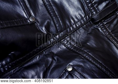 Shiny Leather Pant Part