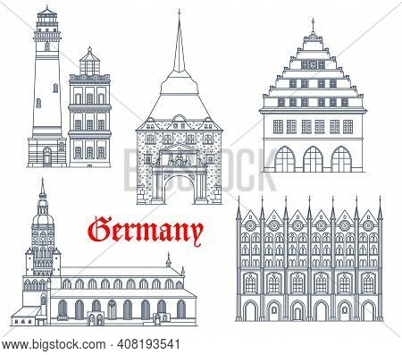 Germany Landmarks Buildings Architecture And Cathedrals Of German Mecklenburg Pomerania Cities. Rost