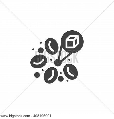 Blood Sugar Glucose Vector Icon. Filled Flat Sign For Mobile Concept And Web Design. Diabetes Blood