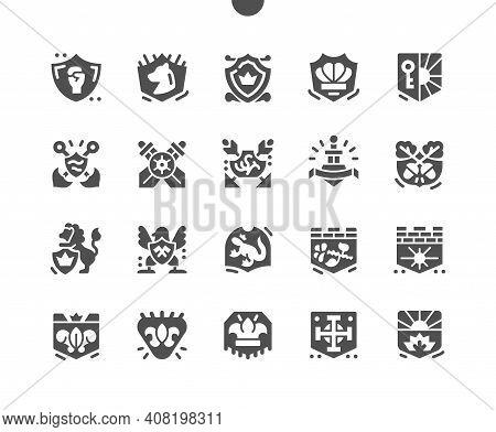Blazon. Royal Coat Of Arms. National Emblem. Shield, Heraldic, Majestic, Royal, Imperial, Decorative