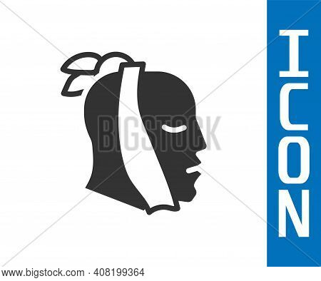 Grey Toothache Icon Isolated On White Background. Vector