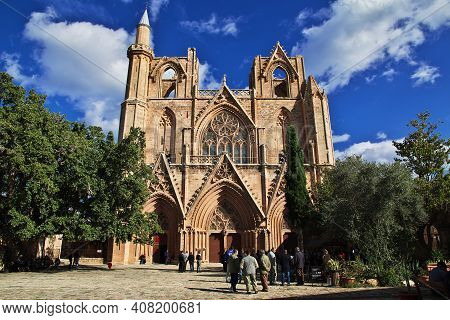 Famagusta, Northern Cyprus - 08 Jan 2016: Riuns Of Church In Famagusta, Northern Cyprus