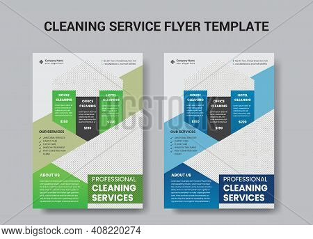 Cleaning Service Flyer Template Design For Company Purpose