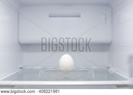 Home Appliance - Egg Inside Open Two-door White Refrigerator