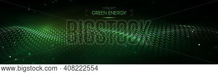 Green Technology Background. Cyber Circles Computer Ecology And Green Technology Abstract Background