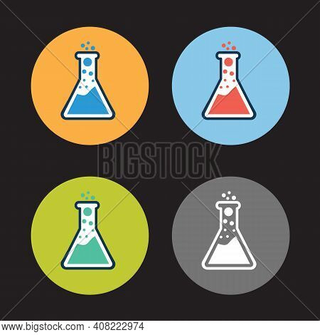 Lab Test Icon, Medical Iconset Clinical Laboratory Thin Line Icons: Medicine Science, Virology Study
