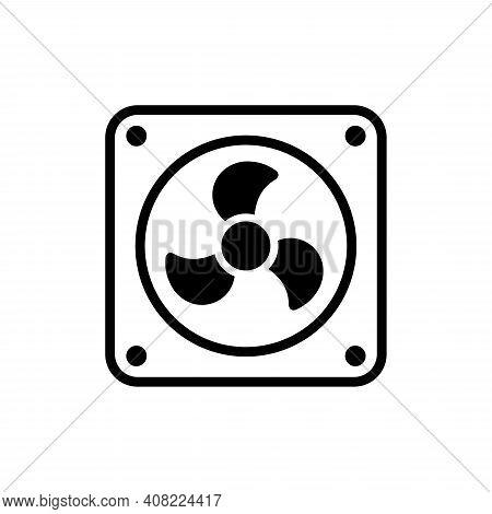 Fan Icon Vertor. Fan Icon Isolated On White Background. Fan Icon Trendy And Modern Fan Symbol For Lo