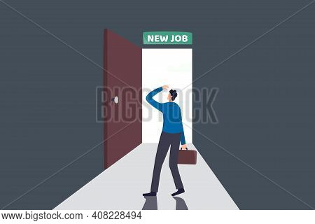 New Job Challenge, Make Decision For New Opportunity In Work Or Career Development Concept, Business