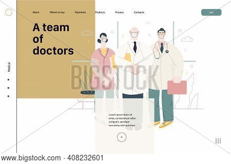 Medical Insurance -medical Guide -modern Flat Vector Concept Digital Illustration - Medical Speciali