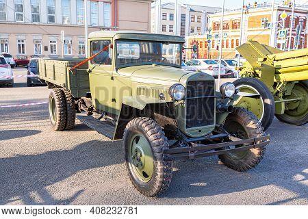Samara, Russia - October 29, 2020: Soviet Retro Truck